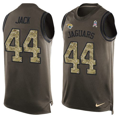 Nike Jaguars #44 Myles Jack Green Men's Stitched NFL Limited Salute To Service Tank Top Jersey